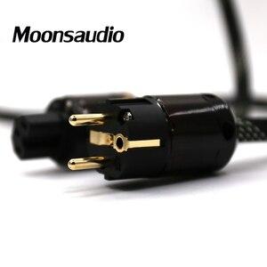 Image 4 - Hallo end 4N OFC Reinem kupfer EU version audio hifi power kabel mit P 079E/C 079 stecker stecker