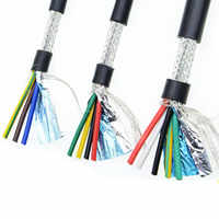 26AWG 24AWG 22AWG 2/3/4/5/6/7/8 core Shielded cable 5meters pure copper RVVP shielded wire control cable UL2547 signal wir