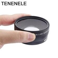 Объектив камеры 0.45X 55 58 62 67 72 мм широкоугольный объектив с макрообъективами HD Оптика для Canon Nikon Sony Fuji аксессуары для объектива камеры
