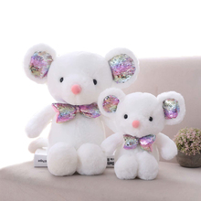 Lovely Nordic Style White Mouse Plush Doll Stuffed Toy Animal Childrens Birthday Gift