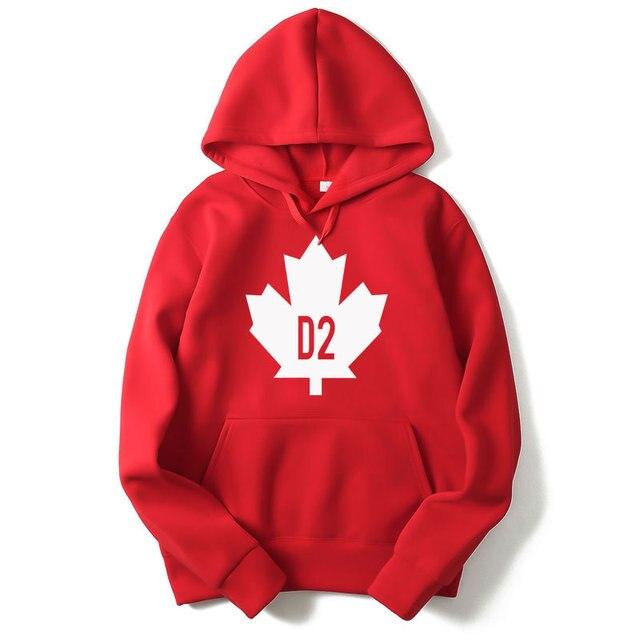 Canada Vsenfo Hoodies Feuille Drapeau Sweat Hommes Homme Imprimé SOOd4rqF