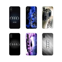 For Samsung Galaxy S4 S5 MINI S6 S7 edge S8 S9 S10 Plus Note 3 4 5 8 9 luxury audi car logo Accessories Phone Cases Covers(China)