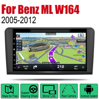 Android 2 Din Auto DVD Radio For Mercedes Benz ML Class W164 2005~2012 NTG Car Multimedia Player GPS Navigation System Radio