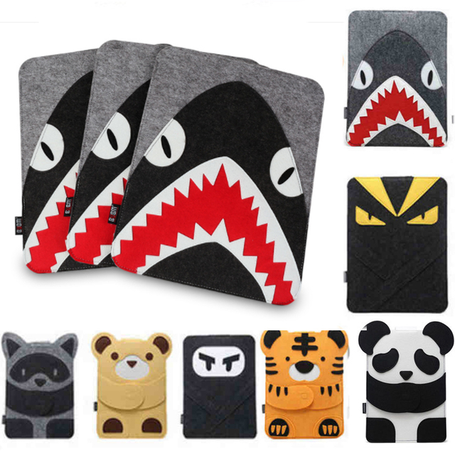 Wool Felt Laptop Bag for MacBook Air Pro 11 13 14 15 Notebook Sleeve Case for Apple Mac 13.3 15.4 Inch Cute Cartoon Character