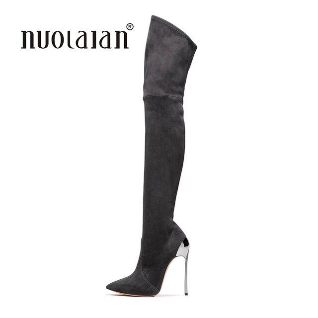6e4a9b424d5757 2018 donne coscia stivali alti sopra gli stivali al ginocchio per le donne  moda inverno e