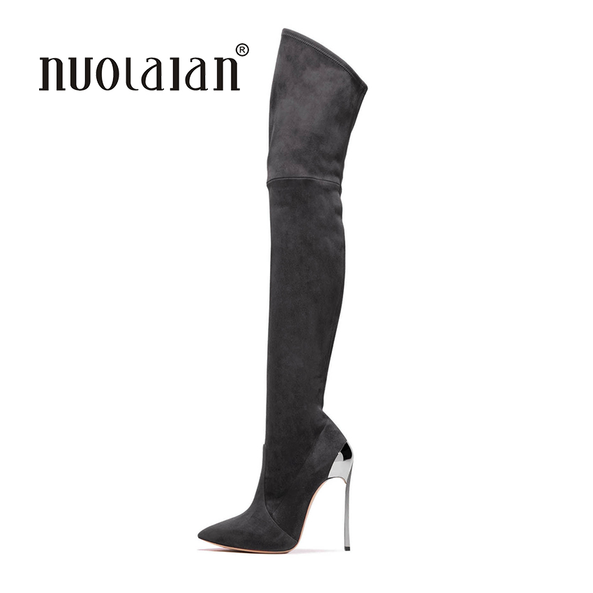2018 women thigh high boots over the knee boots for women fashion winter and autumn woman shoes botas mujer femininas