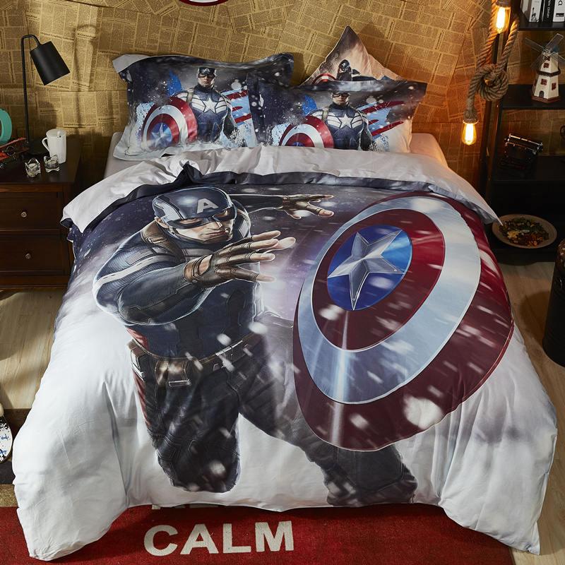 Disney 3d Printed Marvel Spiderman Bedlinen Super Hero Boy Gift Adult Comforter Bedding 100% Cotton Queen Twin Size Summer Quilt Smart Electronics
