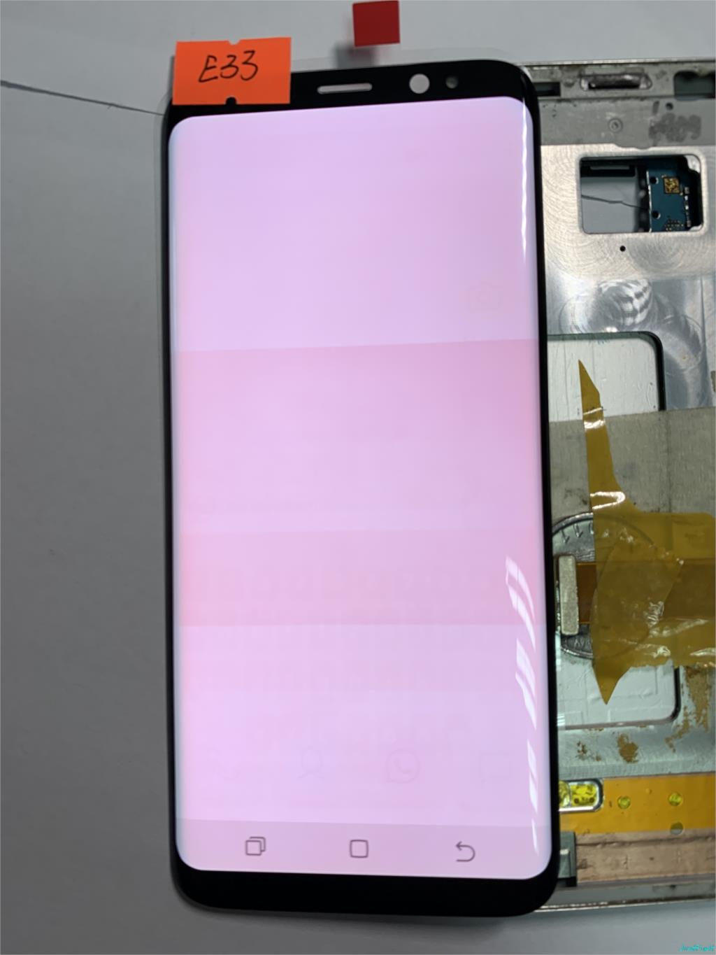 NO E33 for Samsung Galaxy S8 G950F G950A G950FD Burn in shadow lcd display with touch