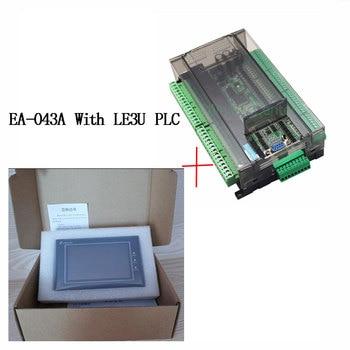 LE3U FX3U series PLC industrial control board with DB9 Communication line+Samkoon EA-043A HMI Touch Screen 4.3 inch 1