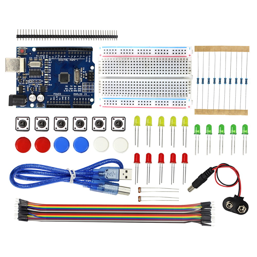 Active Components Original Smart Electronics Integrated Starter Kit Mega 2560 Mini Breadboard Led Jumper Wire Button For Arduino Kit Compatile