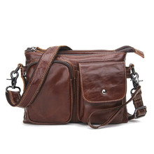 New Luxury Messenger Bag Men's Shoulder Genuine Leather Bags Flap Small Male Man Crossbody Bags For Men Natural Leather Bag цена и фото