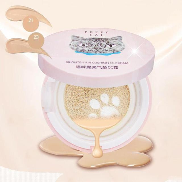 1 Conjunto de Almofada de Ar BB & CC Cremes Maquiagem Corretivo Hidratante Fundação Maquiagem Nua Forte Branqueamento Maquiagem Beleza Facial Z3
