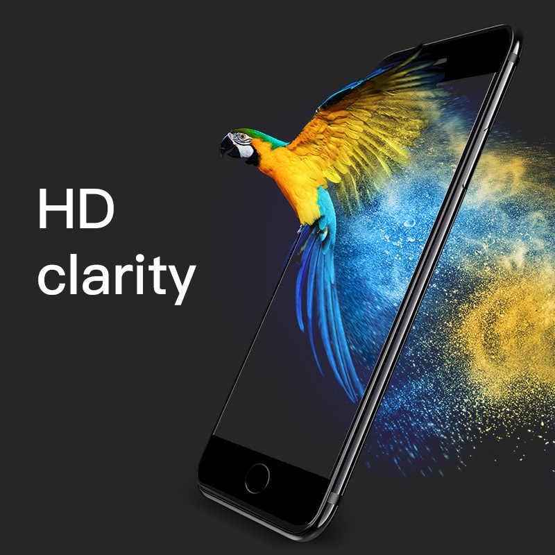 HOCO ل أبل فون 7 8 زائد 3D المقسى زجاج عليه طبقة غشاء رقيقة 9H واقي للشاشة واقية غطاء كامل للمس شاشة حماية