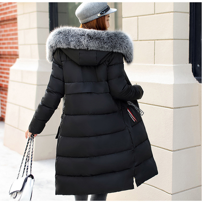 Winter WomenS Down Coat 2018 New Clothes Cotton-Padded Thickening Down Winter Coat Long Jacket Down Parka Winter Women