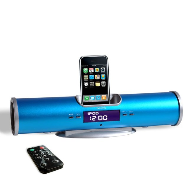 portable travel speakers-blue