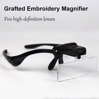 Free Shipping Hot Selling Black Led Lamp With Magnifier For Makeup Tattoo Grafting Eyelash