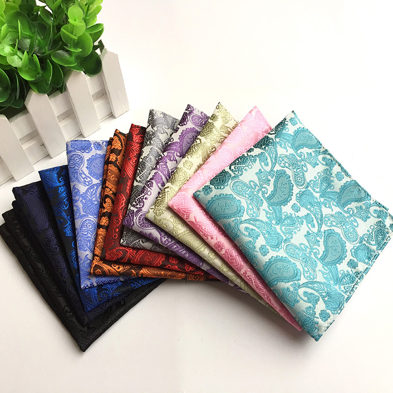 New Classic Paisley Floral Wholesale Vintage Fashion Party High Quality Men's Handkerchief Groomsmen Men Pocket Square Hanky