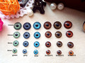 120pcs BJD eyes flat back 4 sizes 6 colors can be choose 6mm/8mm/10mm/12mm 10pairs for each size