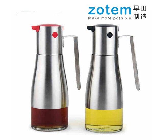 Stainless steel and Borosilicate Glass kitchen cruet & oil bottle spray  bottle vinegar bottle #01
