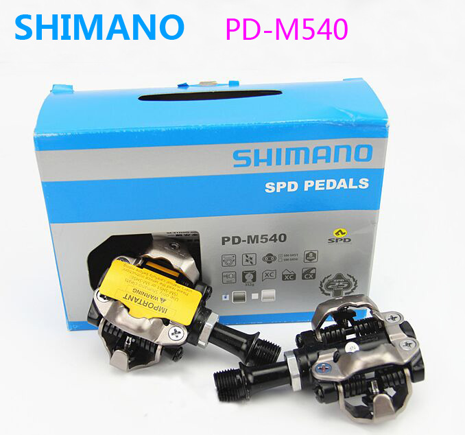 все цены на Shimano PD-M540 pedals Self-Locking SPD M540 Racing Trail Mountain MTB Bike Bicycle pedals M530 Cleats Clipless bicicleta Parts онлайн