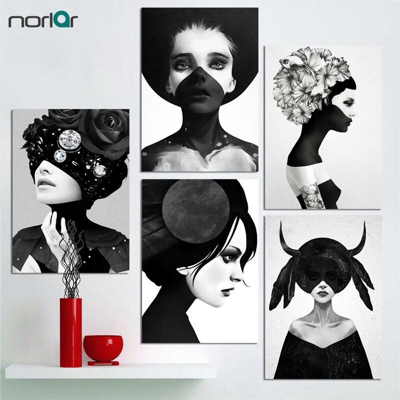 Cuadro Nordic Dekoration Wandkunst Leinwand Malerei Poster