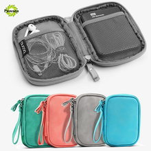 Waterproof Double Layer Cable Storage Bag Electronic Organizer Gadget Travel Bag USB Earphone Case Portable Digital Organizador