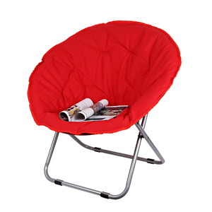 Image 5 - Large Size Moon Folding Chair Portable Couch Lazy Chair for Adult Soft Oxford Cloth Cushion Seat Office Chair Strong Bearing