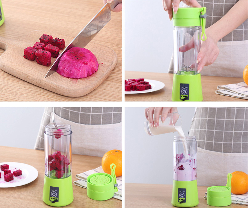 HTB1J.tWWbPpK1RjSZFFq6y5PpXah 380ml Portable Juice Blender USB Juicer Cup Multi-function Fruit Mixer Six Blade Mixing Machine Smoothies Baby Food dropshipping