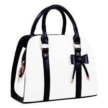 5pcs( ASDS Hot Womens Vintage Hobo Messenger Handbag Shoulder Bag Tote with Bow-White