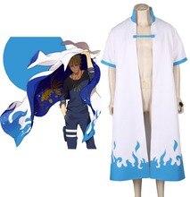 Envío Gratis Naruto Shippuden El cuarto Hokage Llama Azul Abrigo Anime Cosplay Costume
