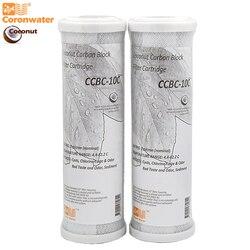 Coronwater CCBC-10C Bloco de Água Casca De Coco Filtro de Carvão Ativado Cartucho de Substituição do Filtro de Água RO