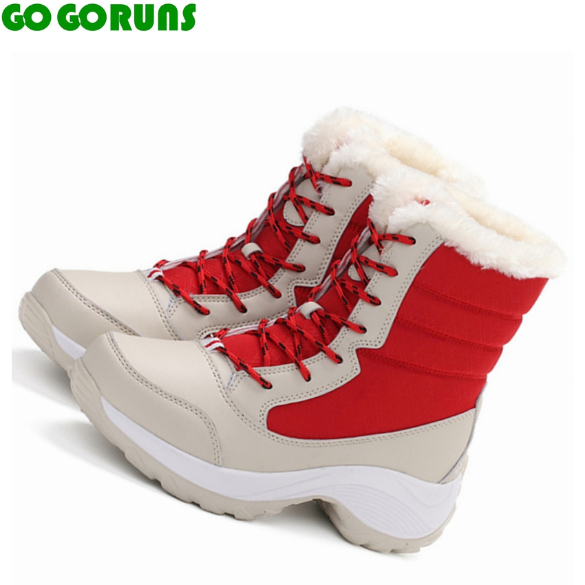 winter outdoor sport women running shoes high top warm ...