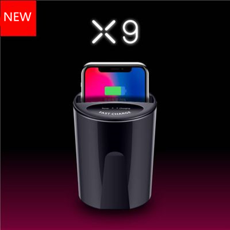 NUOVO X9 Veloce QI Senza Fili Tazza Auto Caricabatterie Per Il Samsung Galaxy S9 S8 S7 S6 Bordo iPhone X/8 /più il Nokia Sony Note8 USB Del Supporto di Ricarica