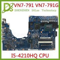 KEFU 14204 1M 448.02G13.0 14203 1M motherboard for Acer Aspire VN7 791 VN7 791G mianboard i5 4210HQ original tested work