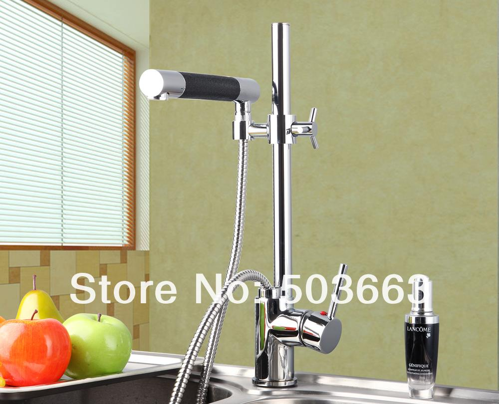 Выдвижной дизайн хром с одним отверстием, кухонный сосуд Раковина вращающийся Смеситель кран тщеславие кран L-3609 смеситель кран