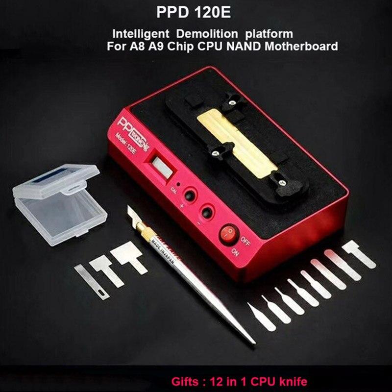 PPD 120E Dessoudage Rebillage Station de Reprise pour iPhone BGA NAND Carte Mère A8 A9 Ouvert CPU BGA NAND À Dessouder Plate-Forme