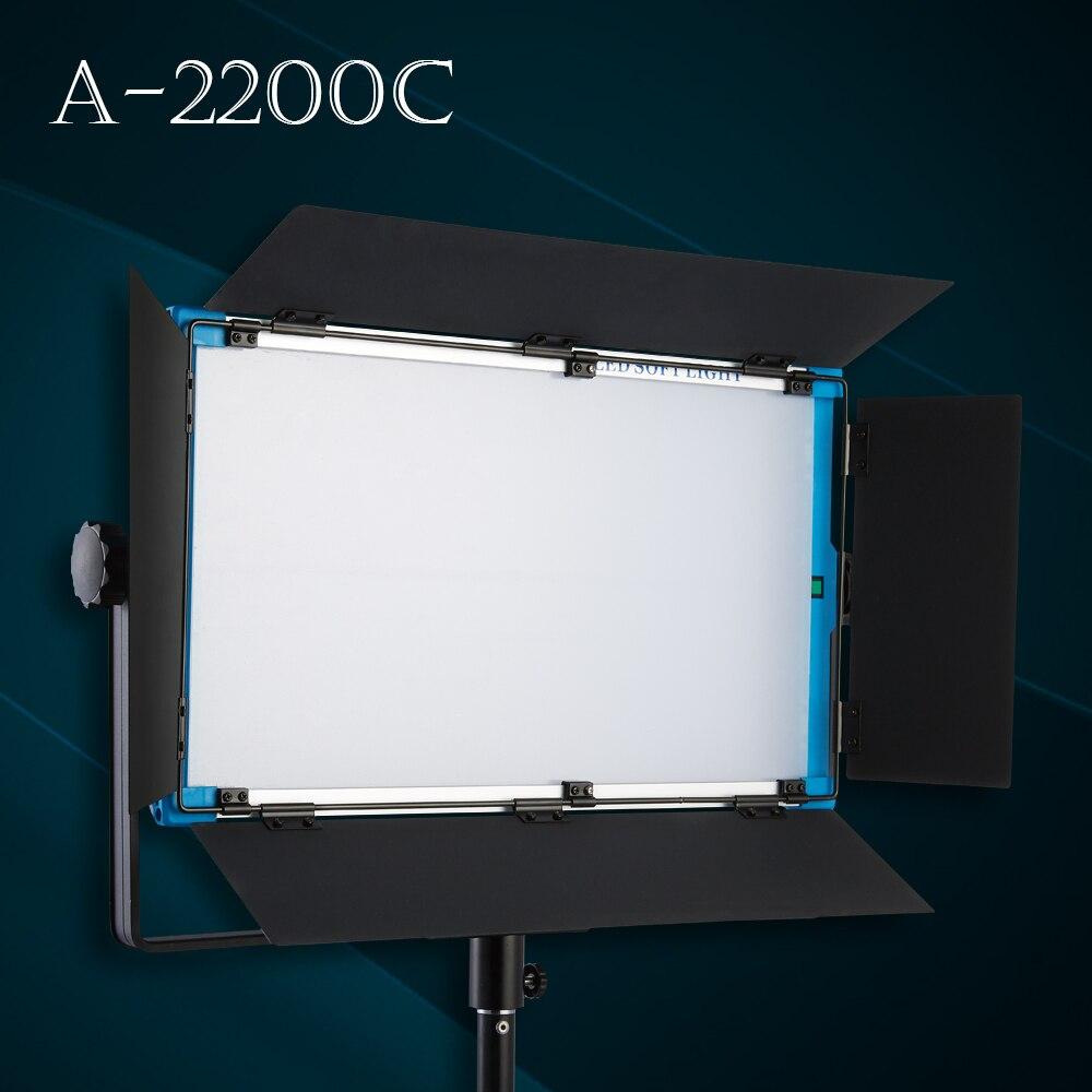 Nouveau Design Yidoblo A-2200c 140 W RGB bi-couleurs lampe à LED photographie Film vidéo LED panneau lumineux doux avec téléphone App télécommande