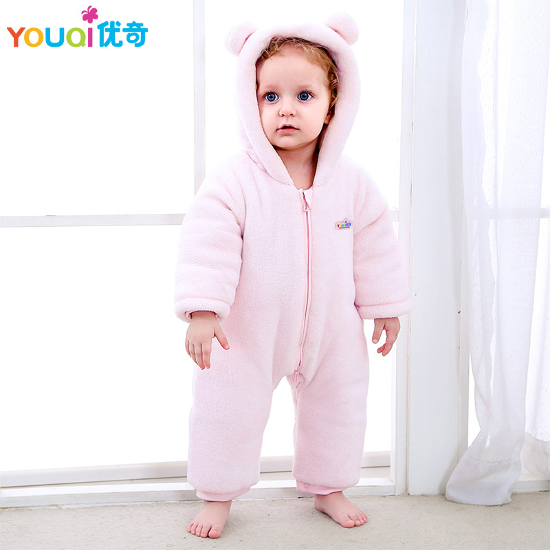 YOUQI Baby Coat Winter Thick Boy Clothes Christmas Girls Jacket For Baby Down Snowsuit Warm Baby Romper Infant Jumpsuit Clothing ka ji en girls down jacket boy child baby jacket wool tie cap thicker coat baby jacket