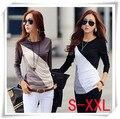 Camiseta de las mujeres t shirt tops tees poleras manga larga mujer camiseta básica ropa de mujer camiseta feminina vetement femme plus tamaño