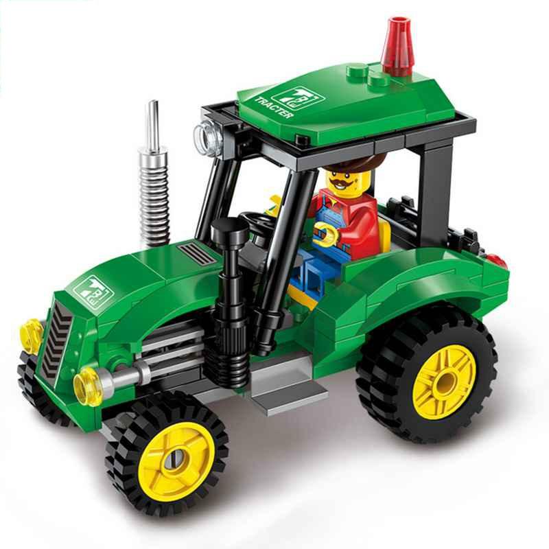 1101-04 Şehir Serisi Süpürgesi Yol Silindiri Forklift Kamyon - Yapı ve İnşaat Oyuncakları - Fotoğraf 4
