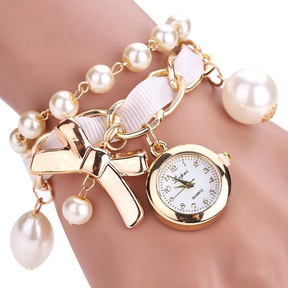LVPAI Hot Sale Gold Women Bracelet Watch Quartz WristWatches Women Fashion Luxury Watch Women Dress Watches Female Clock F#