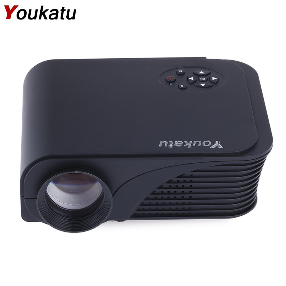 Prix pour Youkatu S320 Mini LCD Projecteur 1800 Lumens 800x600 HDMI USB VGA AV PC Théâtre Multimédia Full HD Lecteur pour les Affaires et La Maison