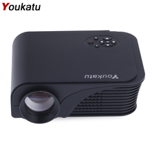 Youkatu S320 Mini LCD Projector 1800 Lumens 800x600 HDMI USB VGA AV PC Theater Multimedia Full HD Player for Business and Home