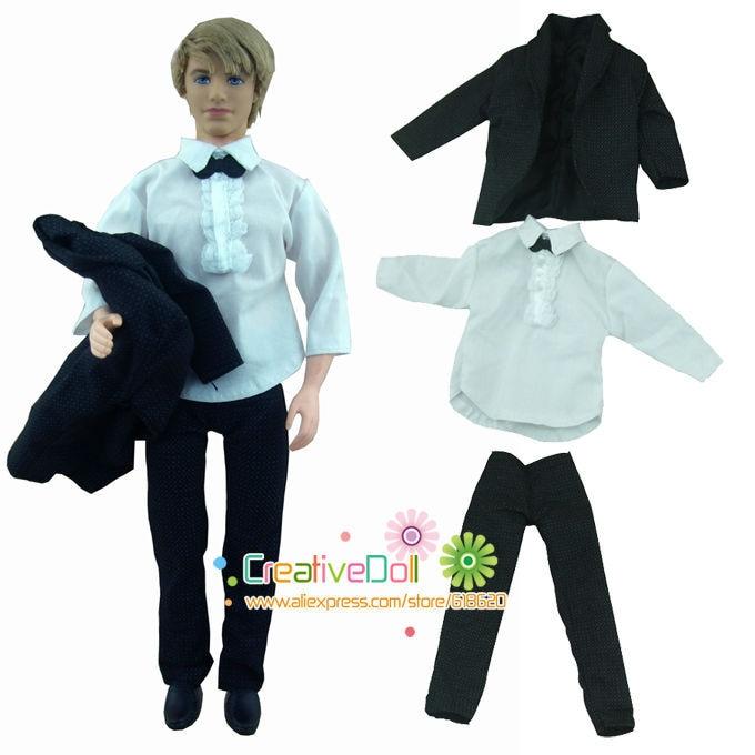 1 Set Doll Clothes Suit for Ken Handmade Coat Pants for Dolls US//