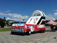 china inflatable slides supplier fire fighting truck inflatable toys