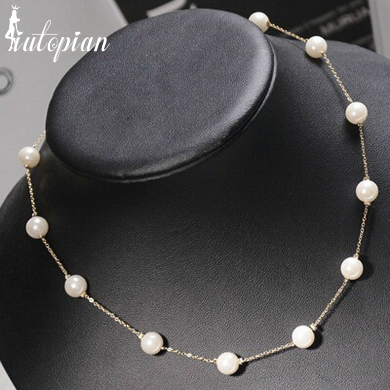 Iutopian Fashion Jewelry Simulated Pearl Necklace for Women Top Quality  Anti-Allergy Wholesale Low Price 60344791c2f7