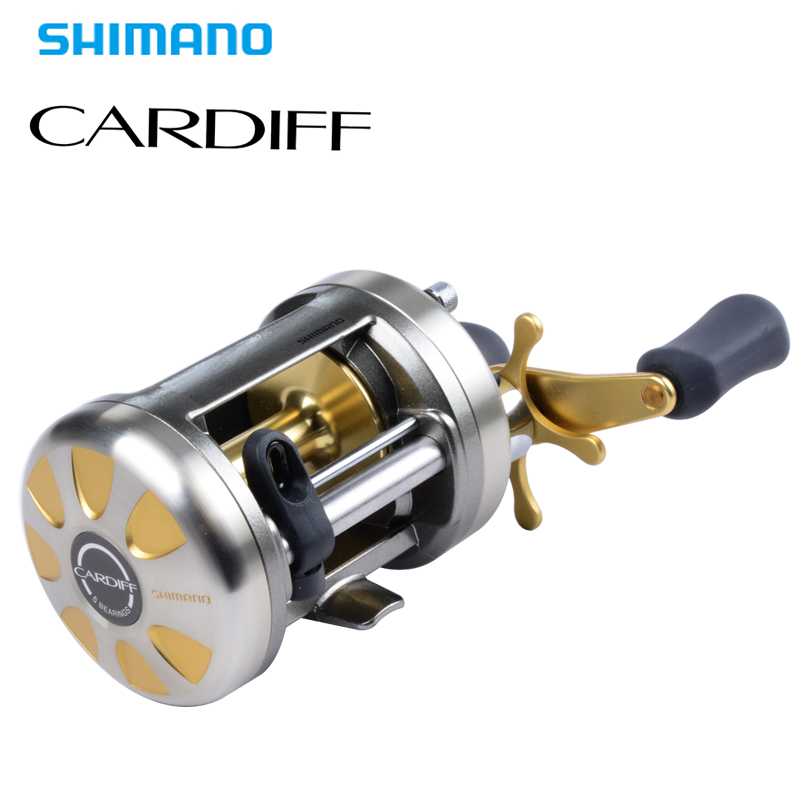 Original Shimano CARDIFF 200A 201A 300A 301A 400A 401 Baitcasting Fishing Reel 4+1BB 5.8:1 Round Fishing reel