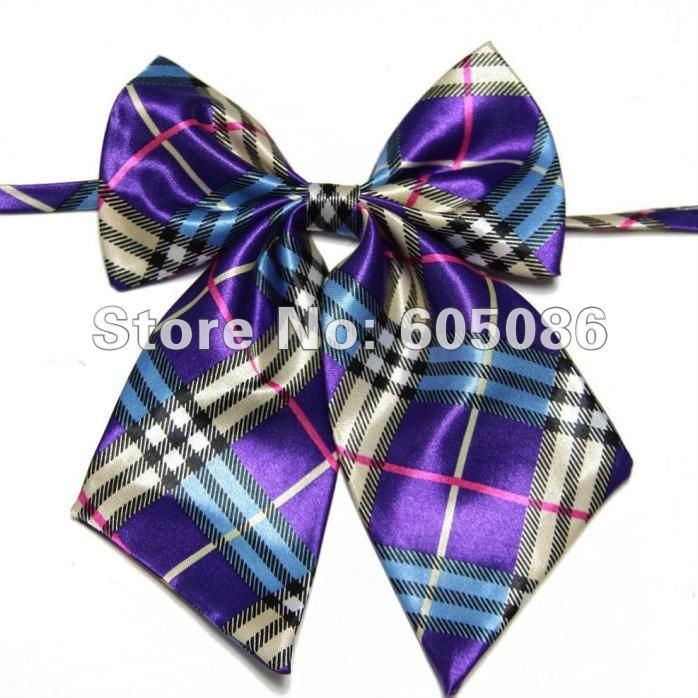 Hooyi Druck Muster Frauen Bowtie Business Schmetterling Günstige Polyester Krawatten & Taschentücher