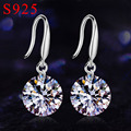 925 Sterling silver Jewelry CZ Diamond drop earrings for women AAA Austria Crystal wedding earrings Ear brincos Pending Mujer