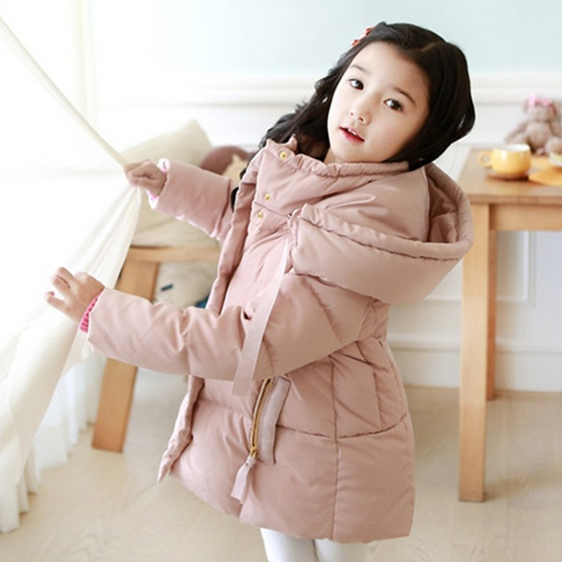 Winter Jacket For Girls Kids Hooded Parkas Long Thick Children Warm Coats Autumn Down Jackets Toddler Girls Snowsuits Outerwear winter baby girl coats kids warm long thick hooded jacket for girls 2017 casual toddler girls clothes children outerwear